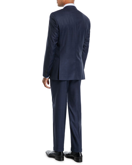 Men's Broken Box Wool Two-Piece Suit