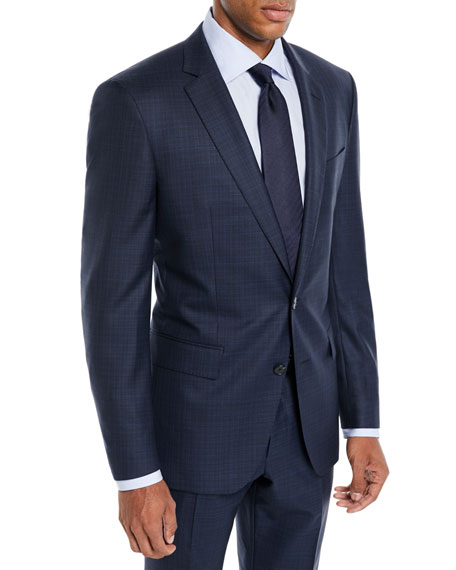 BOSS Men's Broken Box Wool Two-Piece Suit