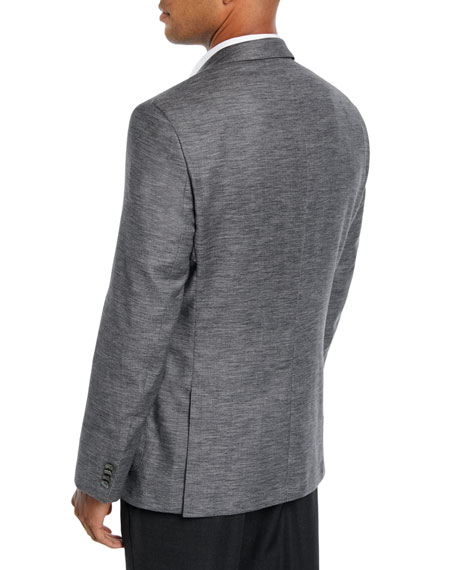 Men's Heathered Patch-Pocket Blazer Jacket