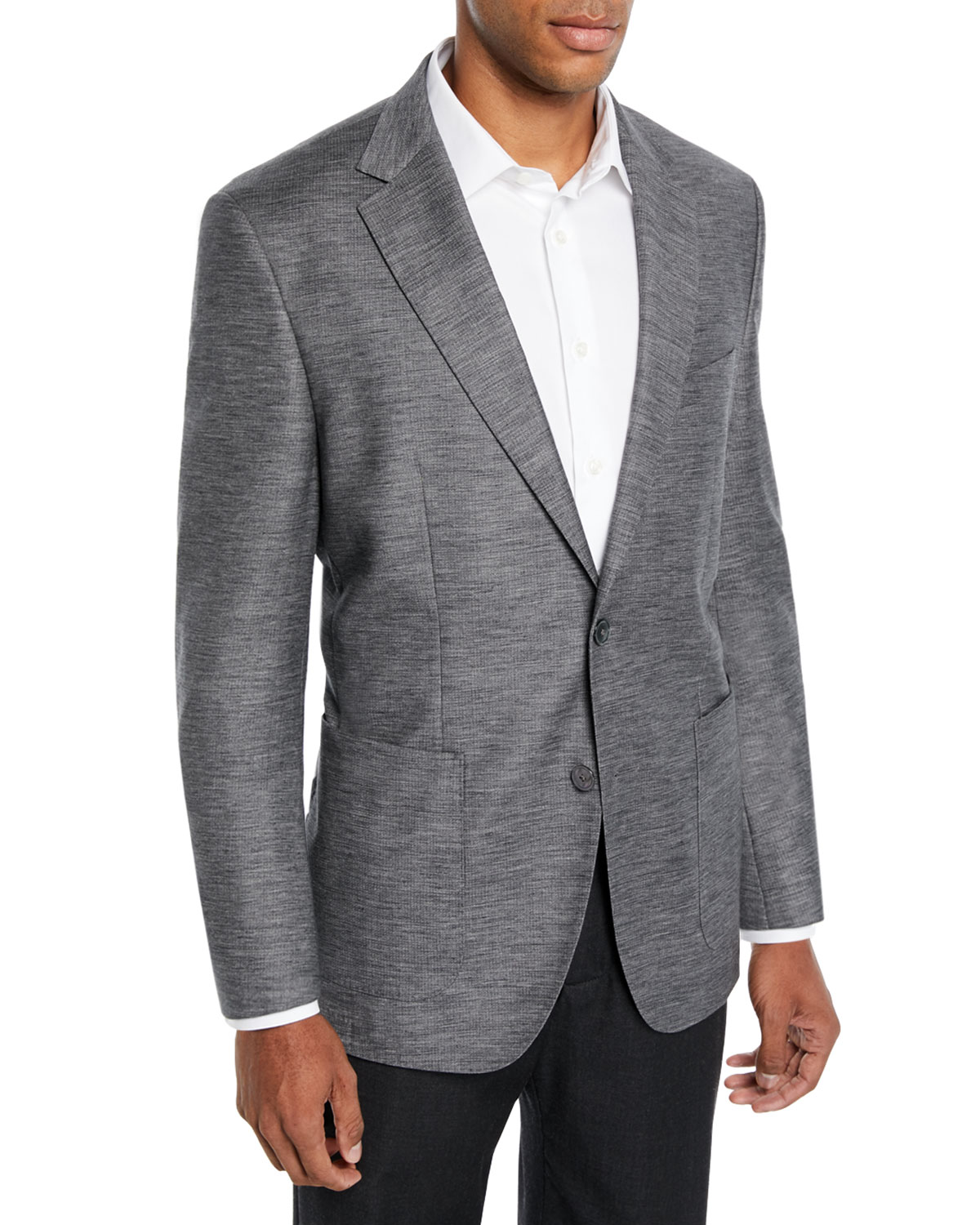 92c5b846f0e BOSS Men s Heathered Patch-Pocket Blazer Jacket