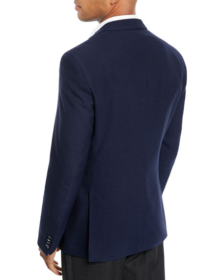 Men's Wool-Cotton Knit Two-Button Jacket