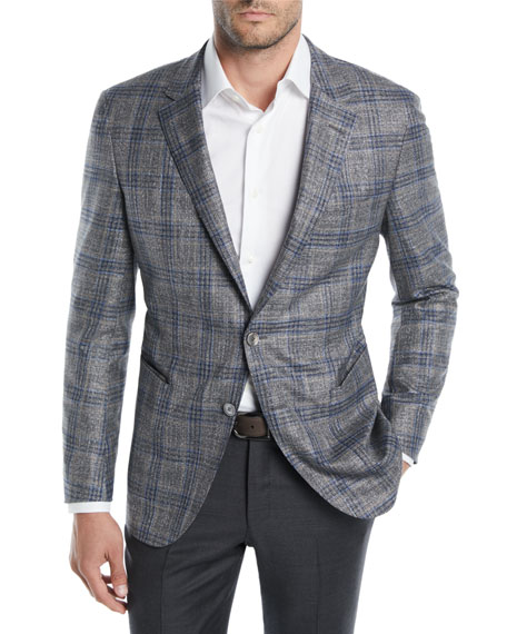 Men's Two-Tone Plaid Jacket