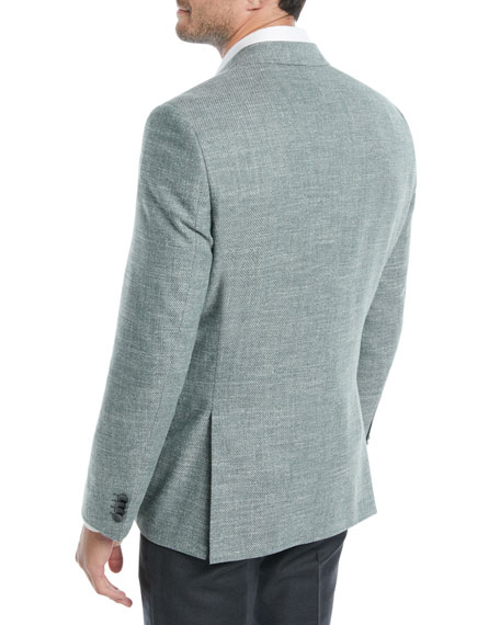 Men's Textured Solid Cotton Jacket