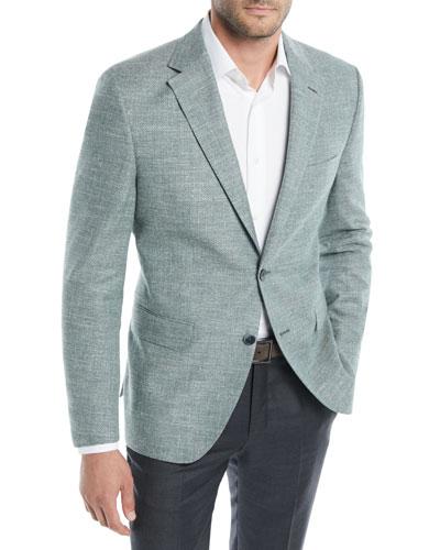Men's Textured Solid Cotton Jacket