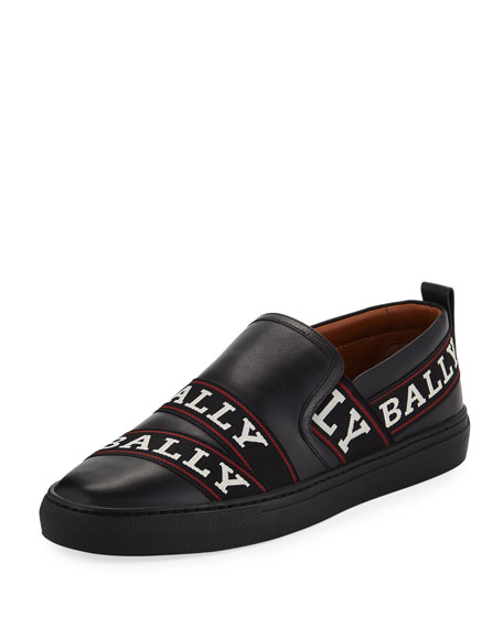 Bally Men's Helia Logo-Ribbon Slip-On Sneakers