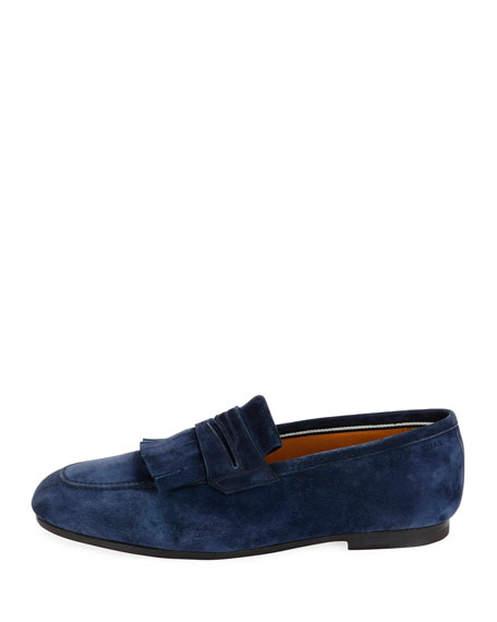 Men's Plumiel Kiltie Suede Loafer