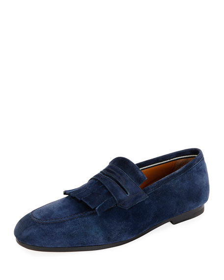Bally Men's Plumiel Kiltie Suede Loafer