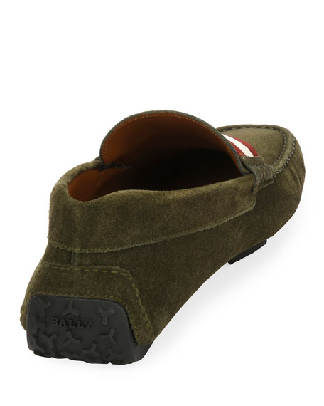 Men's Pearce Suede Driver with Web Strap