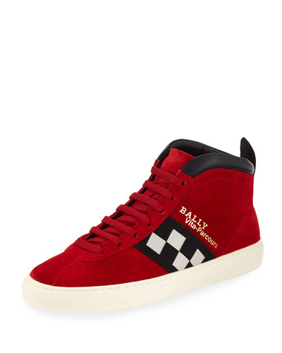 Men's Vita Parcours Retro Suede High-Top Sneaker