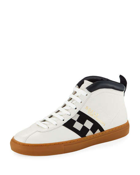 Bally Men's Vita Parcours Retro Lamb Leather High-Top