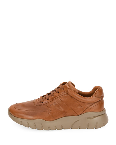 Men's Bizard Leather Running Sneakers