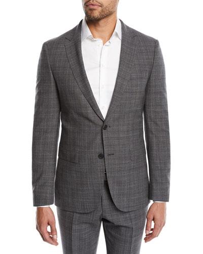 Men's Nestro Check Two-Piece Wool Suit