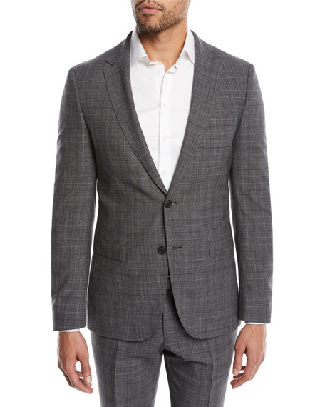 BOSS Men's Nestro Check Two-Piece Wool Suit