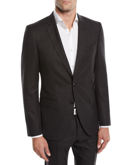 BOSS Men's Huge Genius Solid Slim-Fit Two-Piece Wool