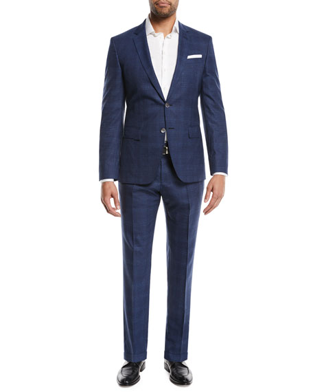 Hudson Slim-Fit Two-Piece Windowpane Suit
