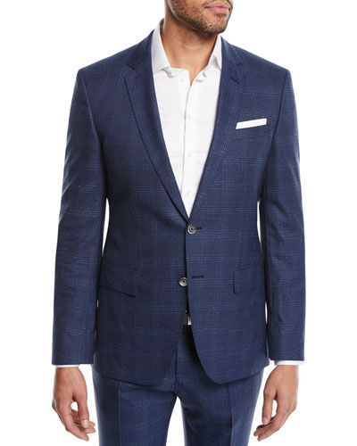 Hudson Slim-Fit Two-Piece Windowpane Suit