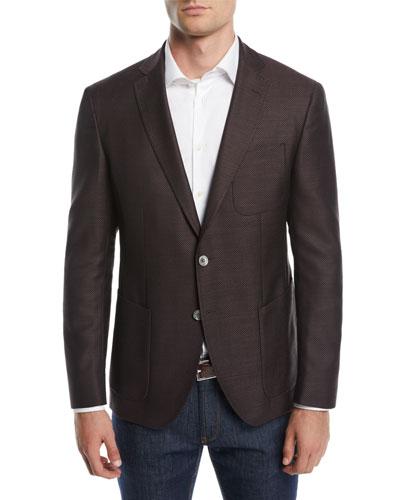 Men's Patch-Pocket Two-Button Jacket
