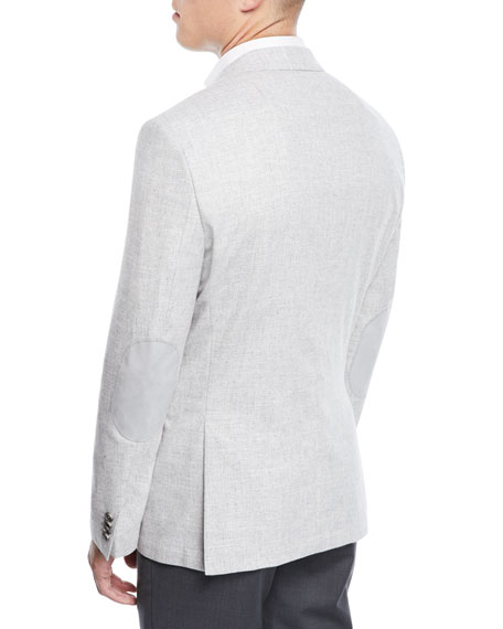 Men's Jestor Wool-Cotton Jacket with Elbow Patches