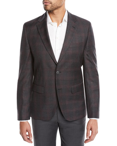 Jewels Regular-Fit Two-Button Check Jacket