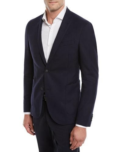 Nelven Slim-Fit Two-Button Virgin Wool Jacket