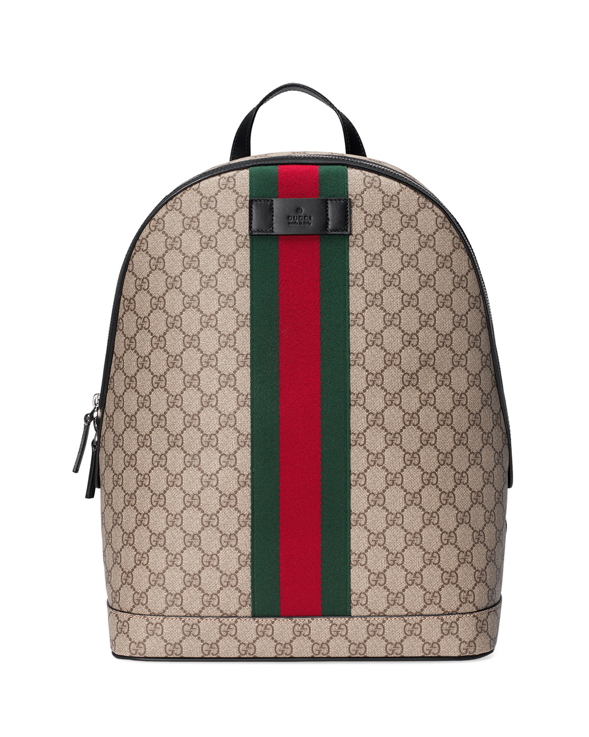 e6b57312000393 Gucci Men's GG Supreme Web Backpack with Laptop Sleeve | Neiman Marcus