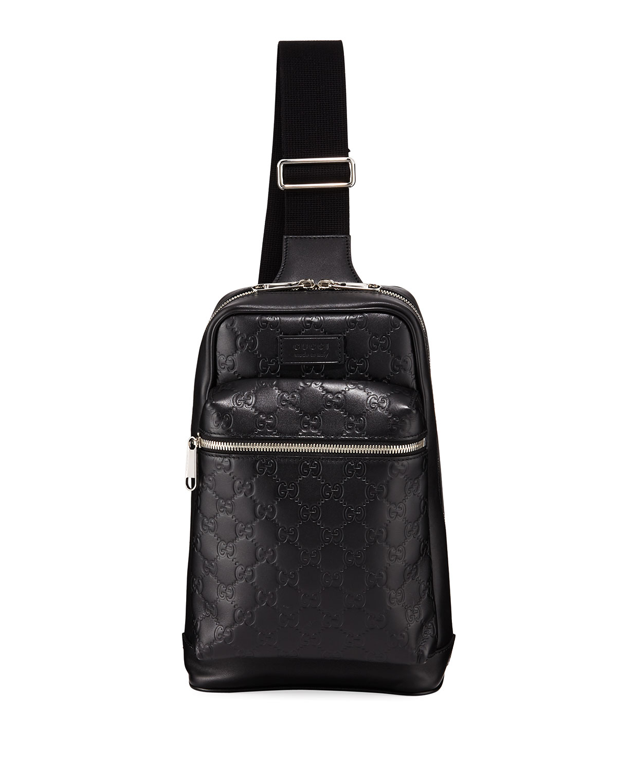 c1fa4c84a4ed Gucci Men s GG Leather Crossbody Backpack
