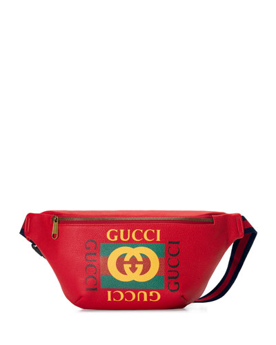 Men's Retro GG Logo Belt Bag/Fanny Pack