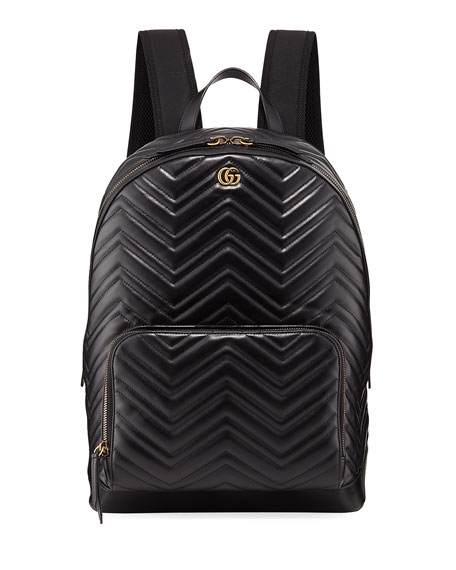 Gucci Men's GG Marmont Quilted Leather Backpack