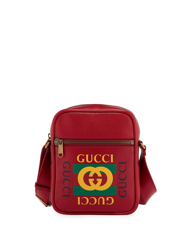 2a2b94e9141 Gucci Men s Retro Leather Crossbody Bag