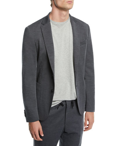 Men's Stretch-Jersey Two-Button Jacket