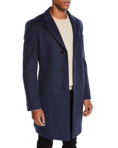 Men's Slim-Fit Wool Top Coat