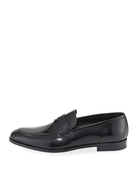 Men's Spazzolato Leather Penny Loafer