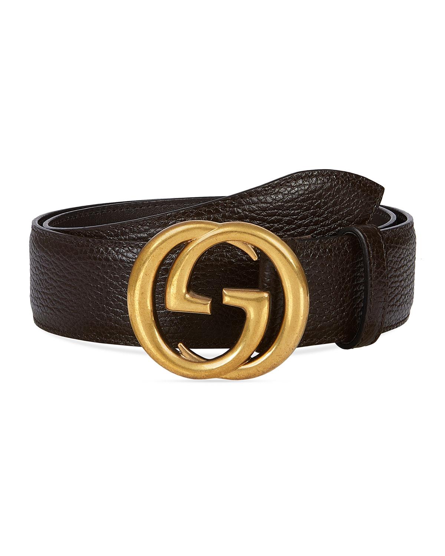 Gucci Men's Interlocking GG Marmont Belt | Neiman Marcus