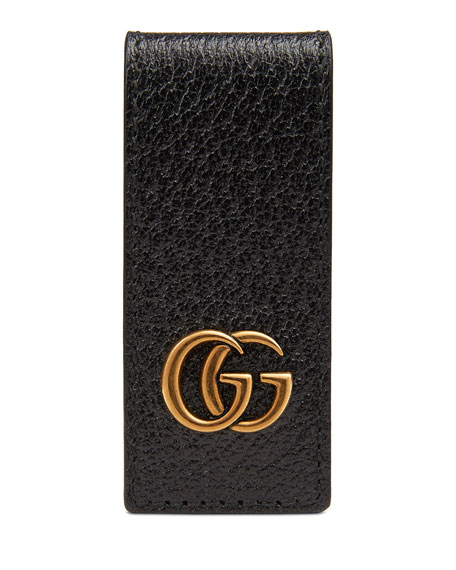 Men's Signature Gg Leather Money Clip by Gucci