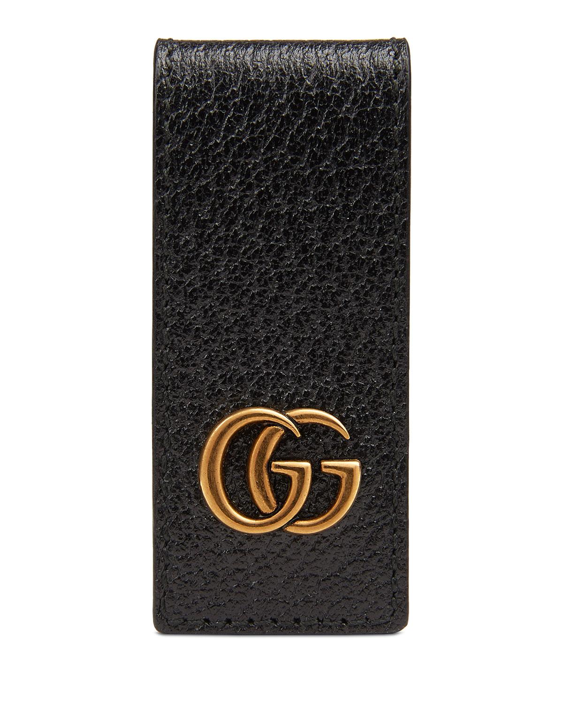 4eae265f8bc5 Gucci Men s Signature GG Leather Money Clip