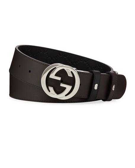 Men's Reversible GG Belt