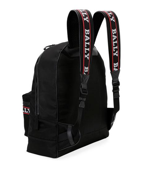 Men's Biggie XL0 Logo-Tape Nylon Backpack