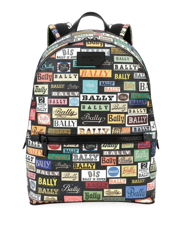 3bb6b8d6fbb3 Bally Men s Gattes Logo-Print Backpack