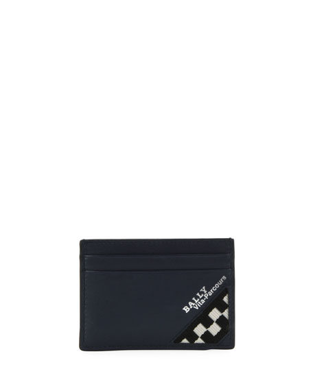 Bally Men's Bhar Leather Card Case with Racing