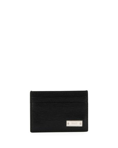 Men's Bhar Leather Card Case, Black