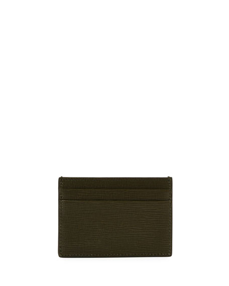 Men's Bhar Leather Card Case, Green