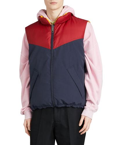 Men's Penwell Zip-Front Puffer Vest