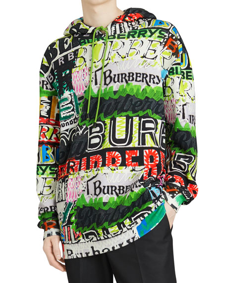 Men's Harrington Graphic-Print Hoodie