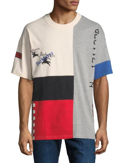 Men's Palak Colorblock Graphic T-Shirt