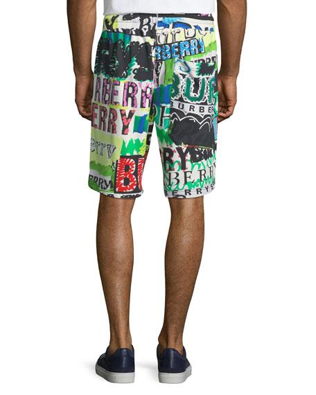 Men's Hursley Graffiti-Print Shorts