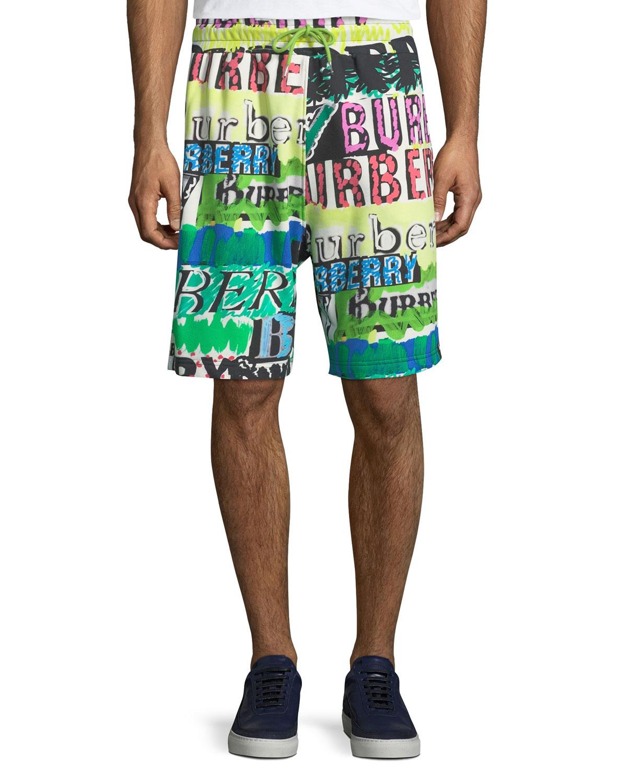 09b7847297d Men's Hursley Graffiti-Print Shorts