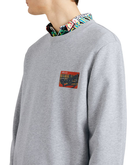 Men's Temporin Name-Tag Sweatshirt
