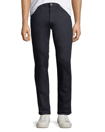 Men's Stretch-Denim Jeans with Tonal Stitching