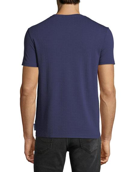 Men's Crewneck Short-Sleeve Chevron-Print T-Shirt