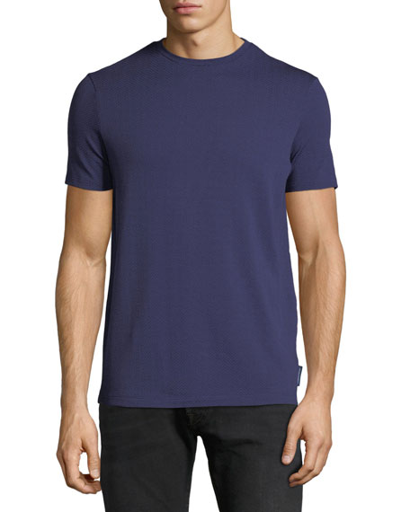 Emporio Armani Men's Crewneck Short-Sleeve Chevron-Print T-Shirt